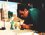 Lionel I. Orozco on the set, animating